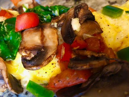 Mushroom, Spinach & Pepper Omelette