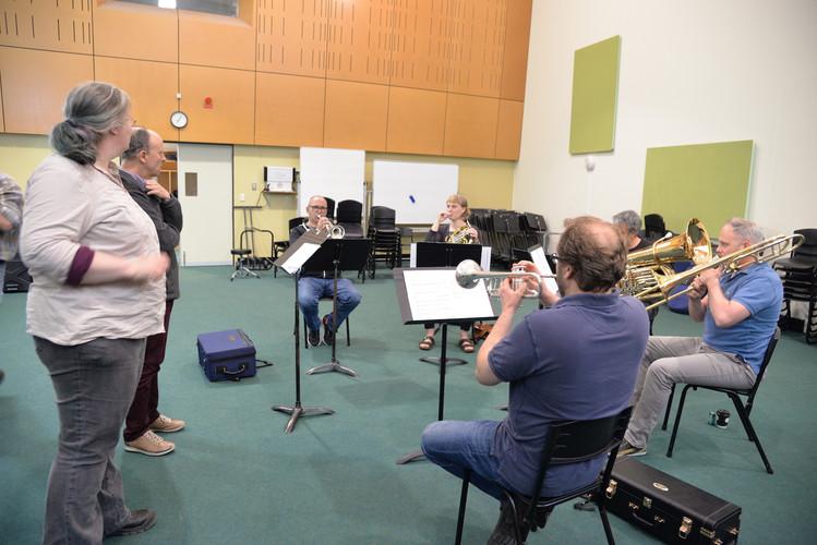 A Tasmanian Requiem rehearsal GapInTheFence Frances Butler.jpg