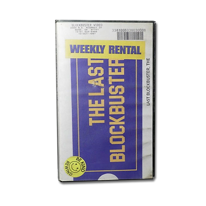 Limited Edition VHS copy of The Last Blockbuster