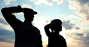 Military Man and Women saluting.png