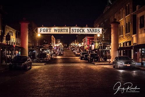 "Fort Worth Stockyards Photo 16""x24"" unframed"