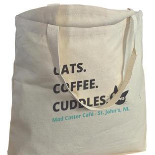 $14.99+tax Tote Bag (Cats. Coffee. Cuddles. Tote bag)