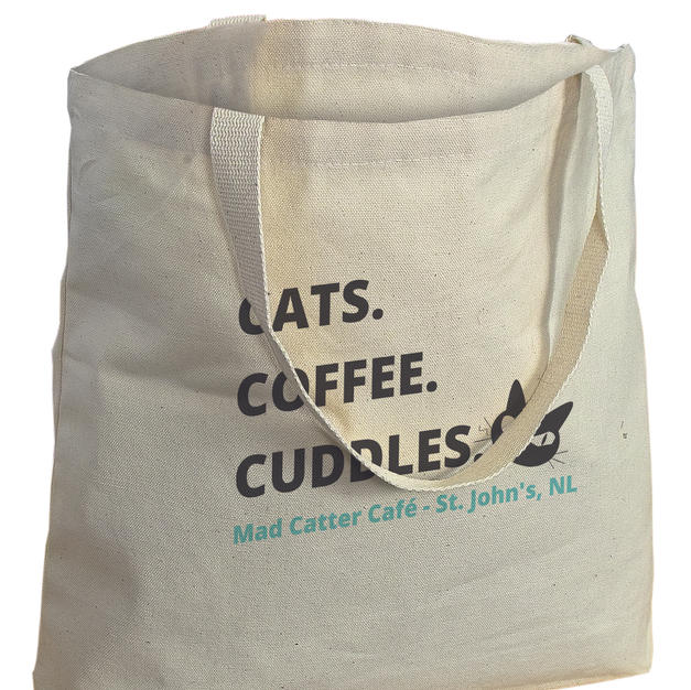 $14.99+tax Tote Bag (Cats. Coffee. Cuddles. Tote bag)