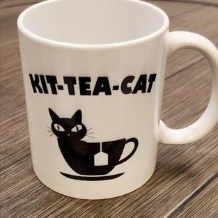"$14.99+tax Mug ""Kit-Tea-Cat"""