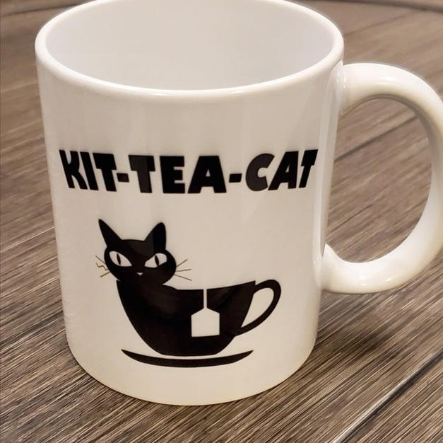 "$14.99+tax Mug ""Kit-Tea-Cat"""