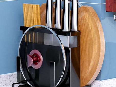 Organizador compacto de utensílios para cozinha, estilo e sofisticação em uma só peça.