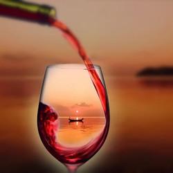 venice in wine glass