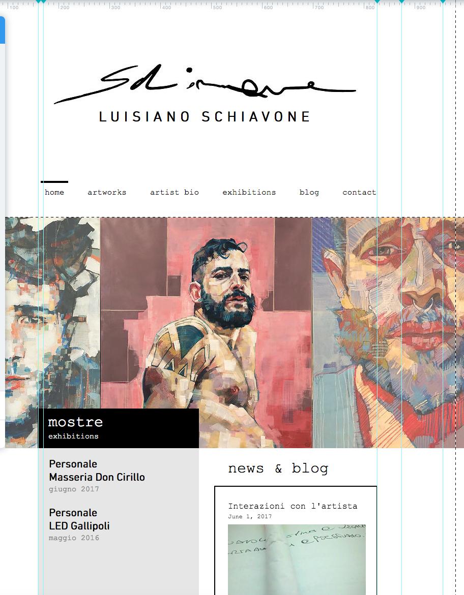 screenshot sito in lavorazione