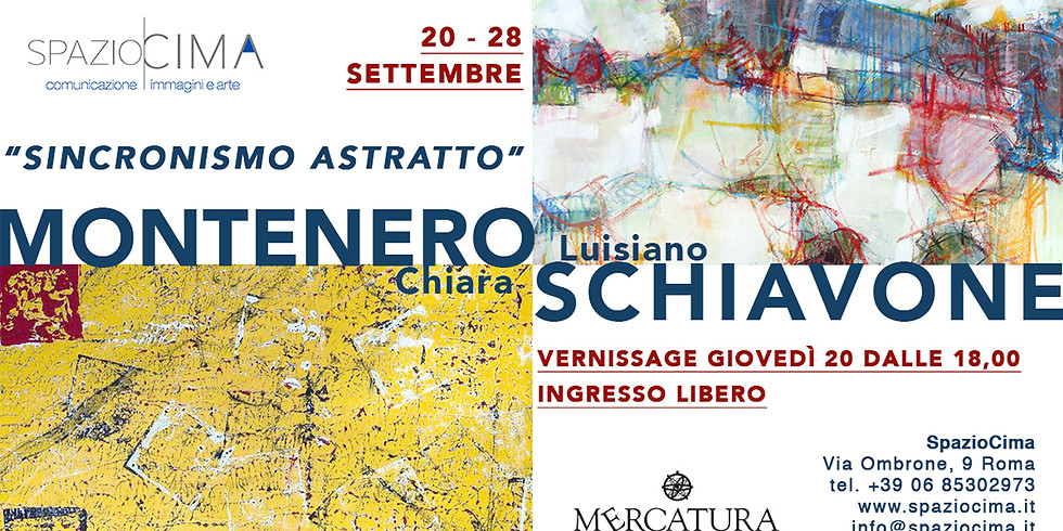 """""""SINCRONISMO ASTRATTO"""" Mostra di Chiara Montenero e Luisiano Schiavone"""