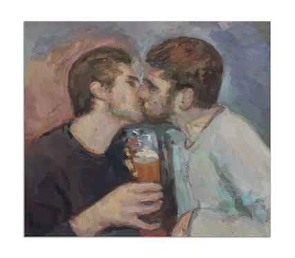 Le baiser - Yisrael Dror Hemed - FMB Art Gallery