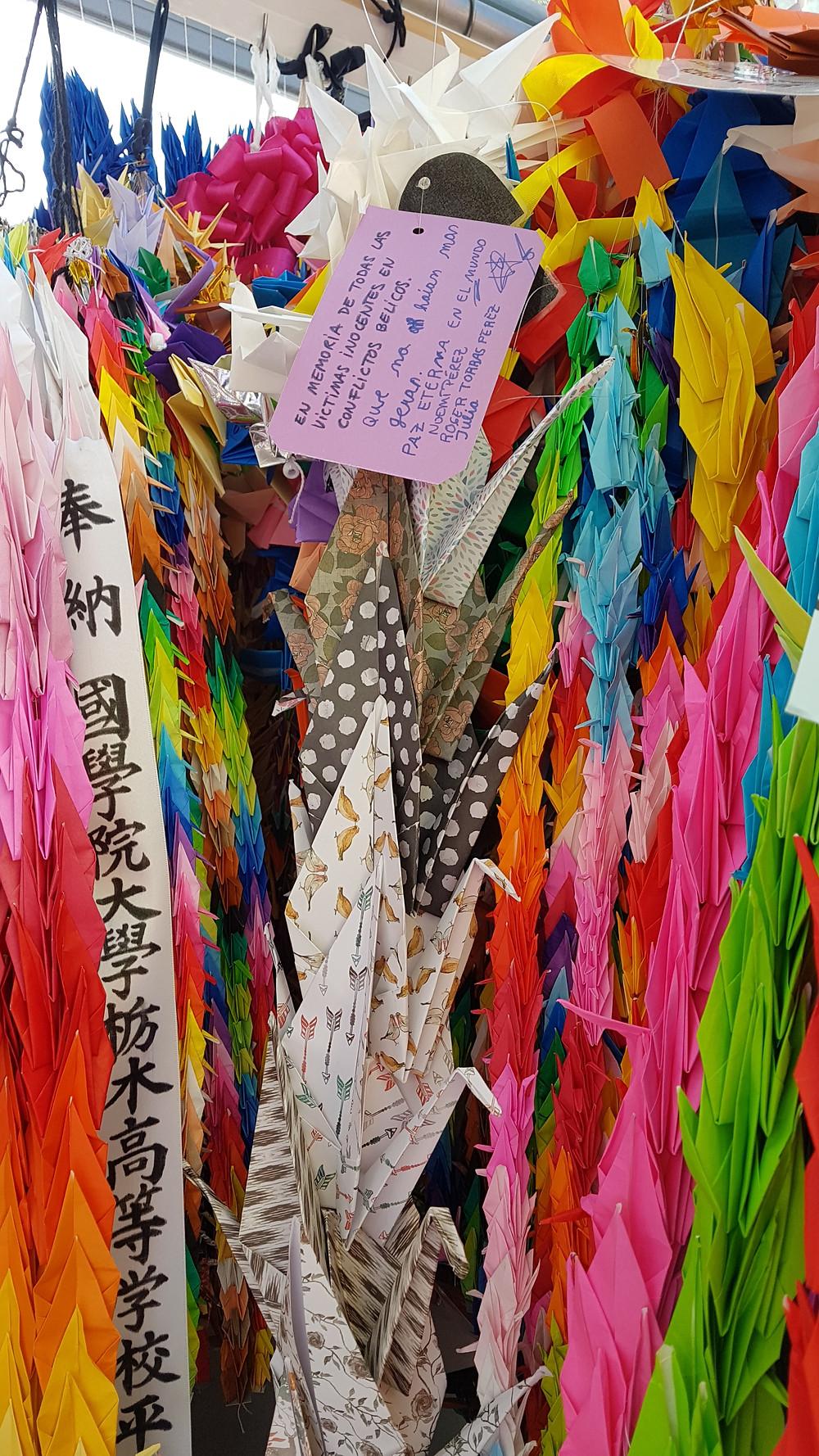grullas papel, sadako, hiroshima, japon, japan