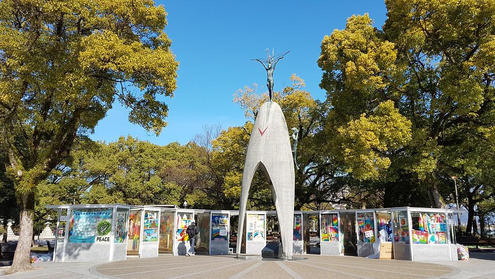 monumento niños hiroshima, japon, sadako