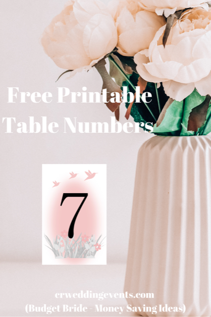 It's just an image of Free Printable Table Numbers regarding 1 page printable