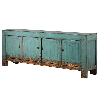 Blue Antique 4 Door Chinese Sideboard