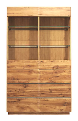 Yukon Solid Oak Display Cabinet