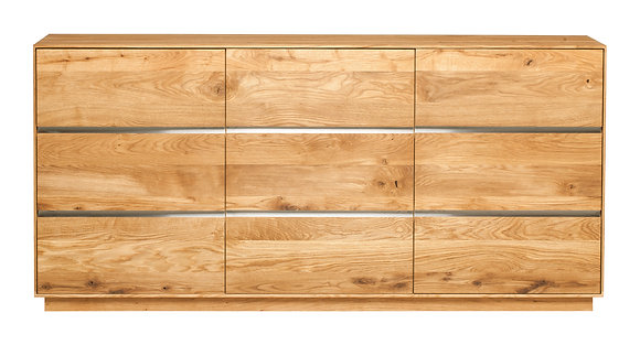 Yukon Solid Oak 3 Door Sideboard