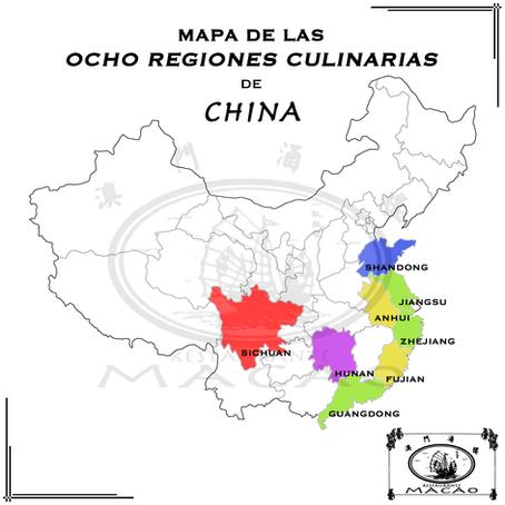 Gastronomía China: Las ocho regiones culinarias