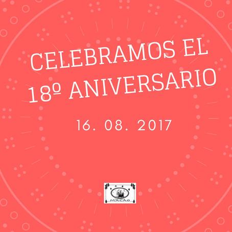 FIESTA ESPECIAL 18º ANIVERSARIO