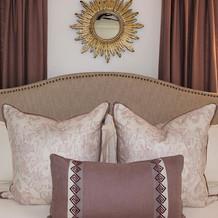 Master Bedroom: Pops of Plum