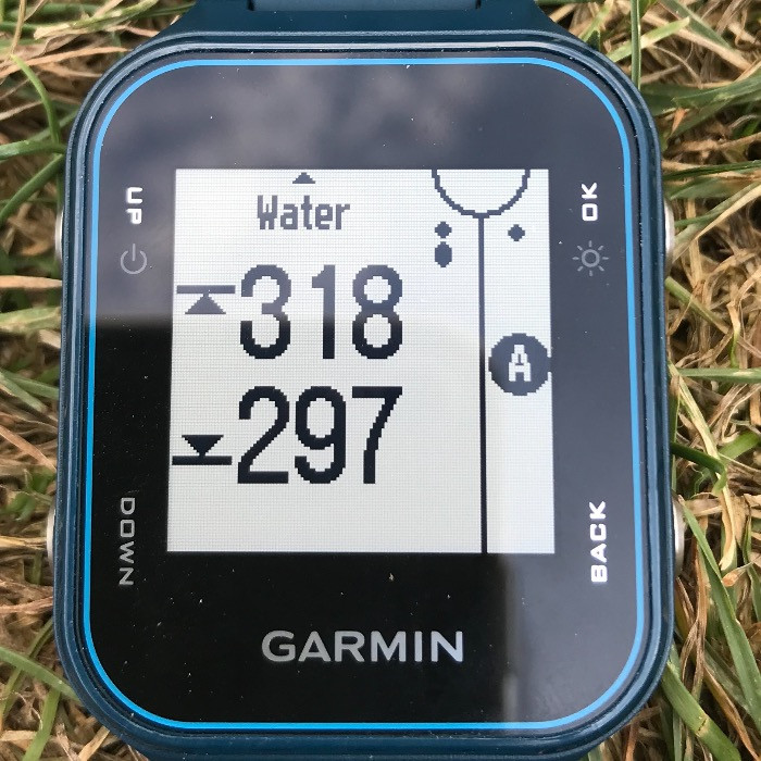 Garmin hazard view