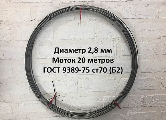 Диаметр 2,8 мм моток 20 метров