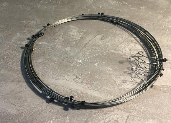Набор пружинной проволоки от 1,0 мм до 2.0 мм (6 диаметров)