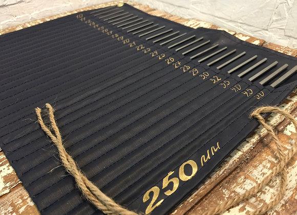 Набор оправок для изготовления пружинок (26 оправок) длина 250 мм В ЧЕХЛЕ