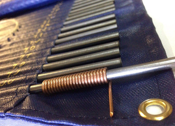 Набор оправок для изготовления пружинок (41 оправка) длина 250 мм