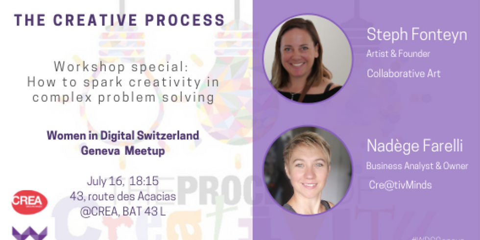 """Women In Digital special workshop """"How to sparkle creativity in complex problem solving"""""""