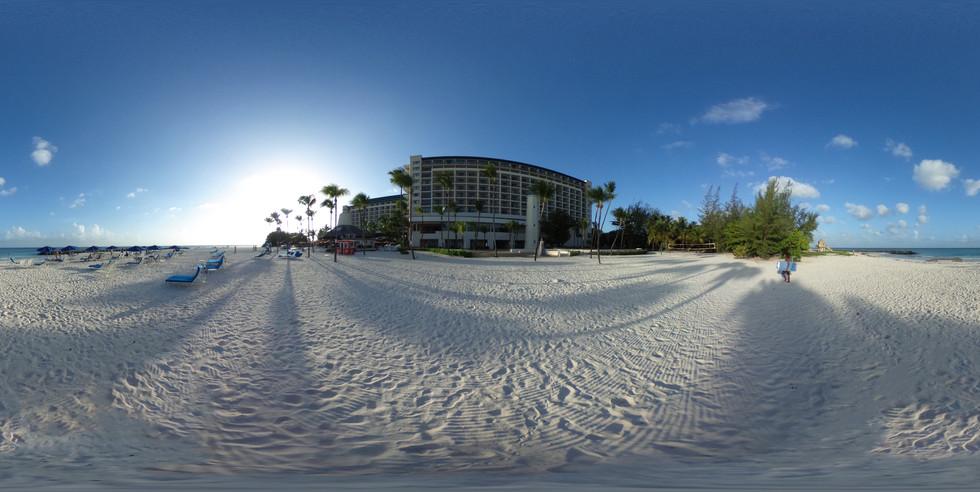 Hilton Barbados Resort beach side view