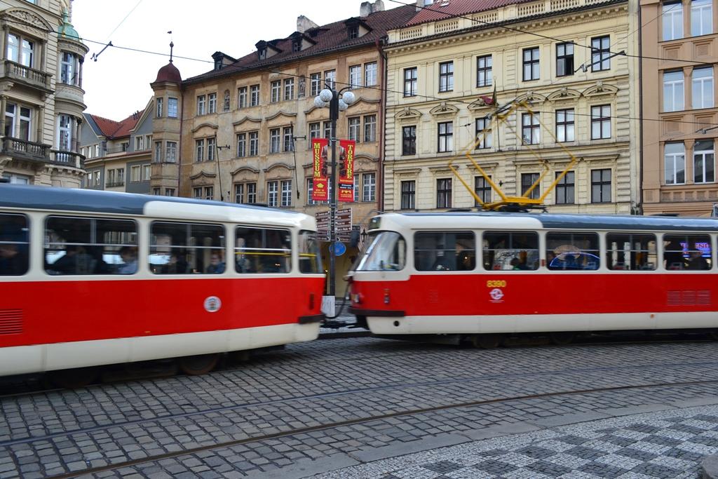 Trams of Prague Old Town