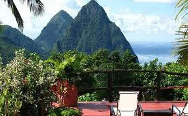 Pitons view St. Lucia