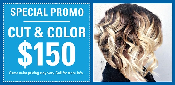 Cut and Color Promo - Just $150!