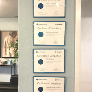CoolSculpting Certifications