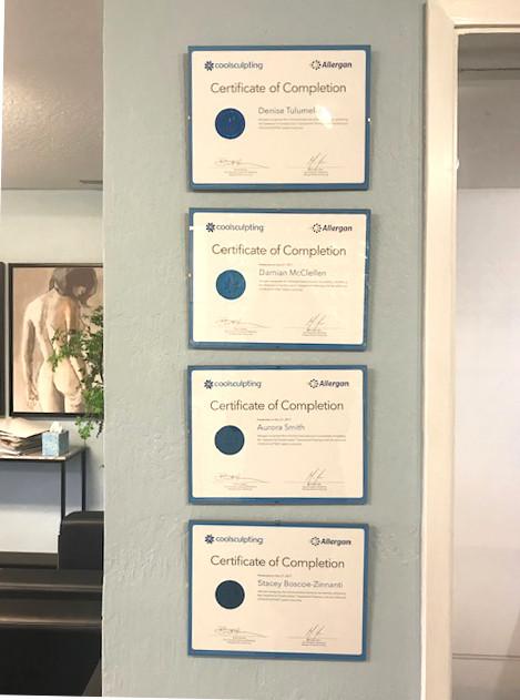 CoolSculpting Certifications
