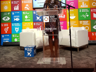 Dr Iyabo Ojikutu is a voice for peace at the SDG Media Zone  72nd United Nations General Assembly