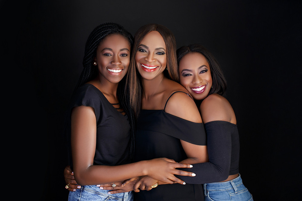 Dr Iyabo pictured with her daughters