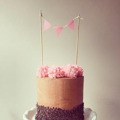 Chocolate Pom Pom Cake