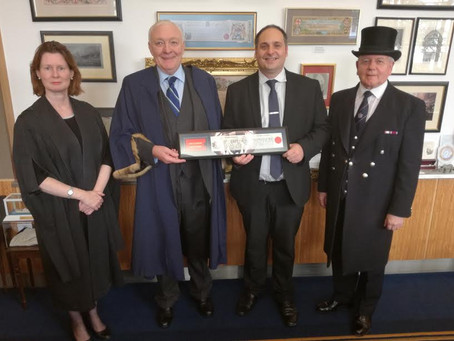 Dominic honoured with Freedom of City of London!