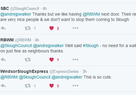 Windsor and Slough Embark On Twitter LoveFest