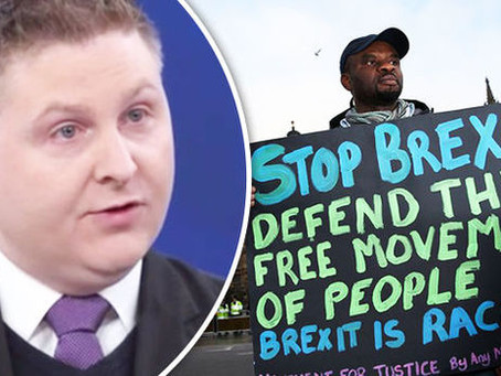Columnist blasts hate crime figures as a chance to label Brexiteers 'RACIST BIGOTS'