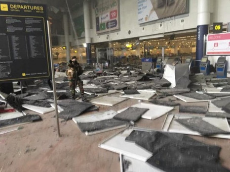 Coordinated Suicide Bomb Attacks in Brussels.