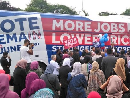Women Segregated at London Mayor's Rally