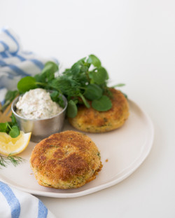 Fishcakes with homemade tartare sauce