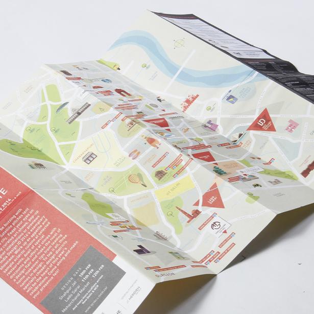 India Design Festival 2014 Map Design