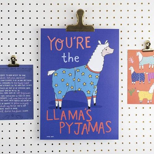 Cards - You're the Llama's Pyjamas!