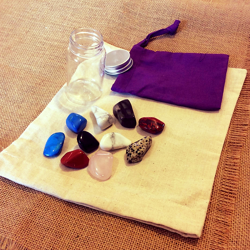Power Stones with sack and jar
