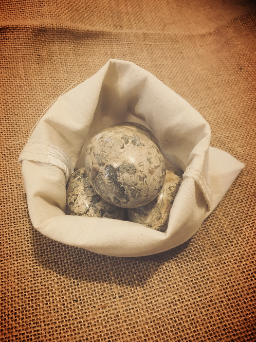 4 Fossil Eggs and Sack