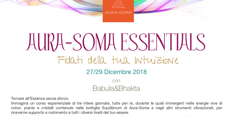 AURA-SOMA® ESSENTIALS - Corso Esperienziale Gardone Riviera