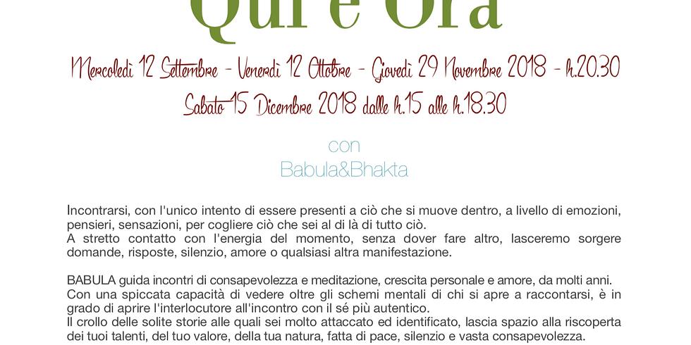 QUI e ORA - Milano - Serata Esperienziale